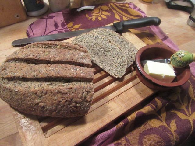 Rustic Seeded Malt Bread