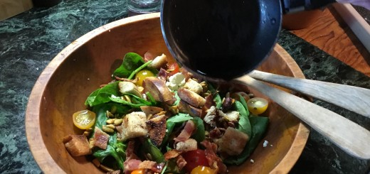 Wilted Spinach Salad Bowl