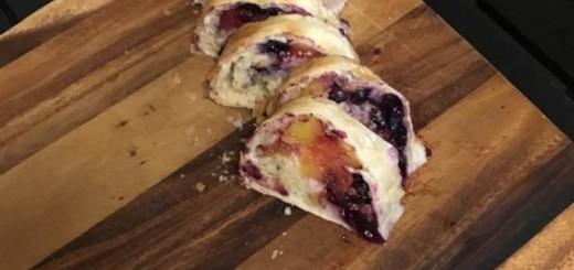 Nectarine & Blueberry Strudel