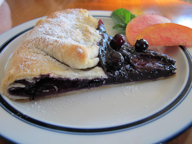 Rustic Blueberry & Nectarine Tart